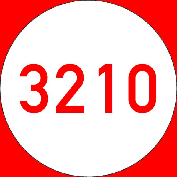 Brandmelderronde 40 mm weiss-rot, Nummer ,selbstklebend