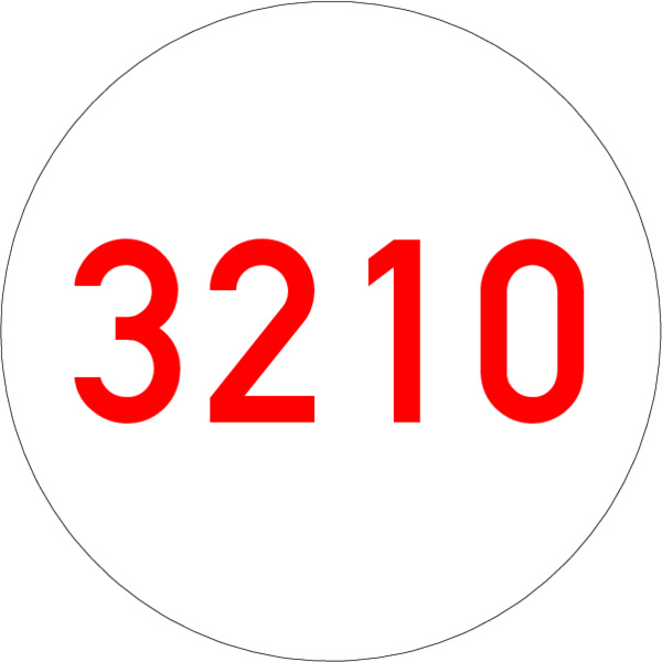 Brandmelderonde 40 mm weiss-rot, Nummer, ohne Kleber