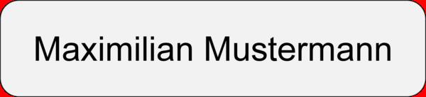 Namensschild Gravouni Alu edelstahloptik 70x16 mm