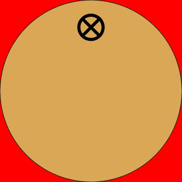 Werkzeugmarke rund 30mm, Aluminium Gold matt, Loch 4,0mm