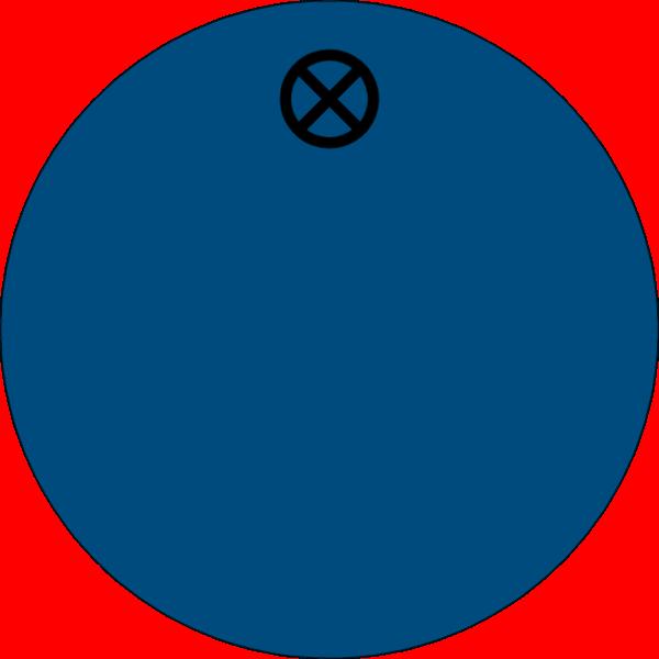 Werkzeugmarke rund 30mm, Aluminium blau matt, Loch 4,0mm