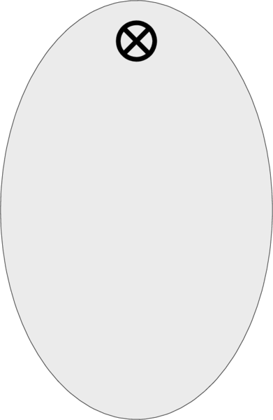 Schlüsselanhänger oval, 30x46x1,5mm, Aluminium silber, Loch 4,0mm