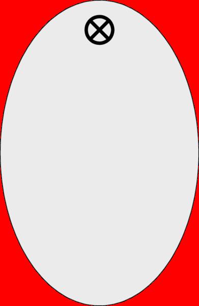 Werkzeugmarke Oval 30x46x1,5mm, Aluminium silber matt, Loch 4,0mm