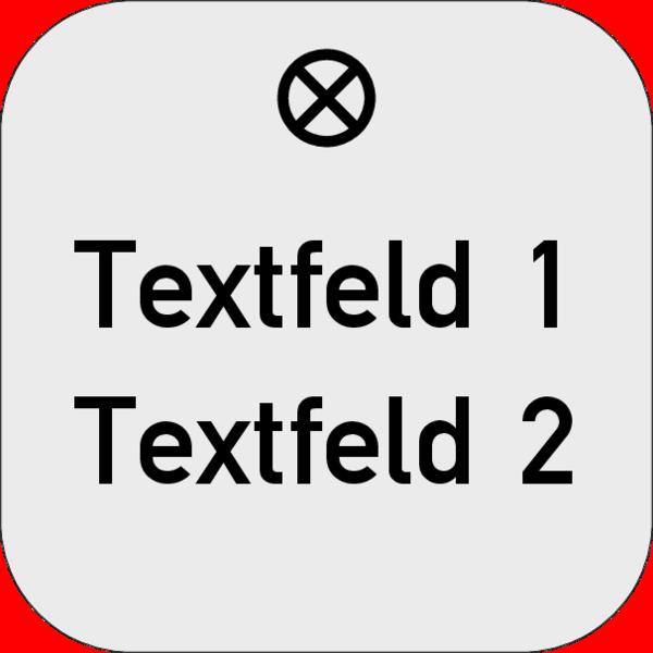 Werkzeugmarke Rechteck, 30x30x1,5mm, Aluminium silber matt, Loch 4,0mm mit Textgravur