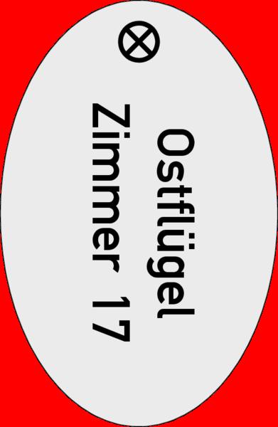 Schlüsselanhänger oval Alu silber matt 30x46x1,5mm, Kontur gestanzt, 1 Loch 4 mm, mit Textgravur