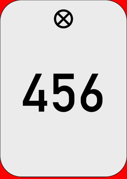 Werkzeugmarke 30x42,5x1,5mm Alu silber mit Nummer