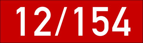 Brandschutzkennzeichen 150x45 rot-weiss