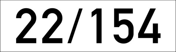 Brandschutzkennzeichen 150x45x1,5mm weiss-schwarz