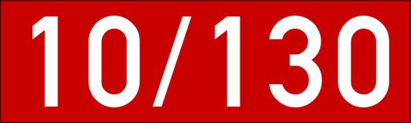 Brandschutzkennzeichen 100x30 rot-weiss ohne Kleber