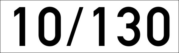 Brandschutzkennzeichen 100x30 mm weiss-schwarz, ohne Kleber
