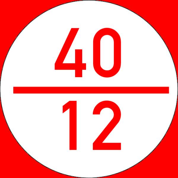 Brandmelderronde 40 mm weiss-rot, ohne Kleber