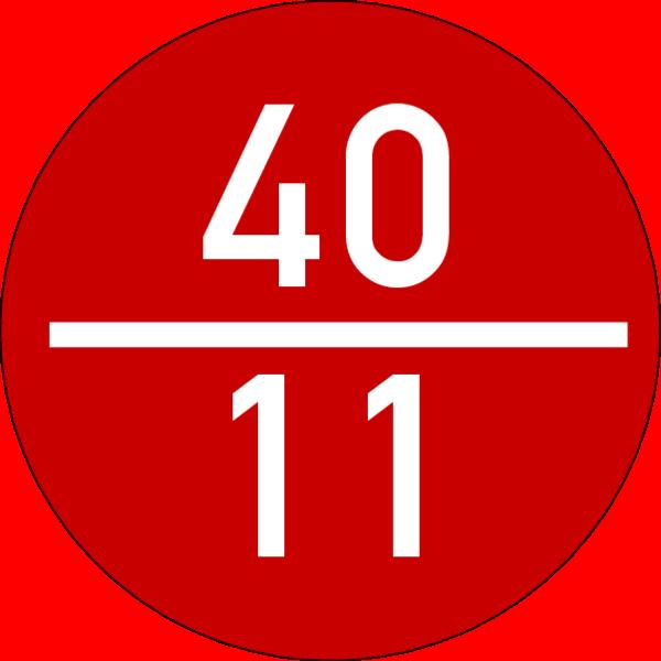 Brandmelderronde 40 mm, rot-weiss, ohne Kleber