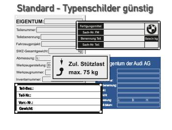 Standardtypenschilder günstig kaufen